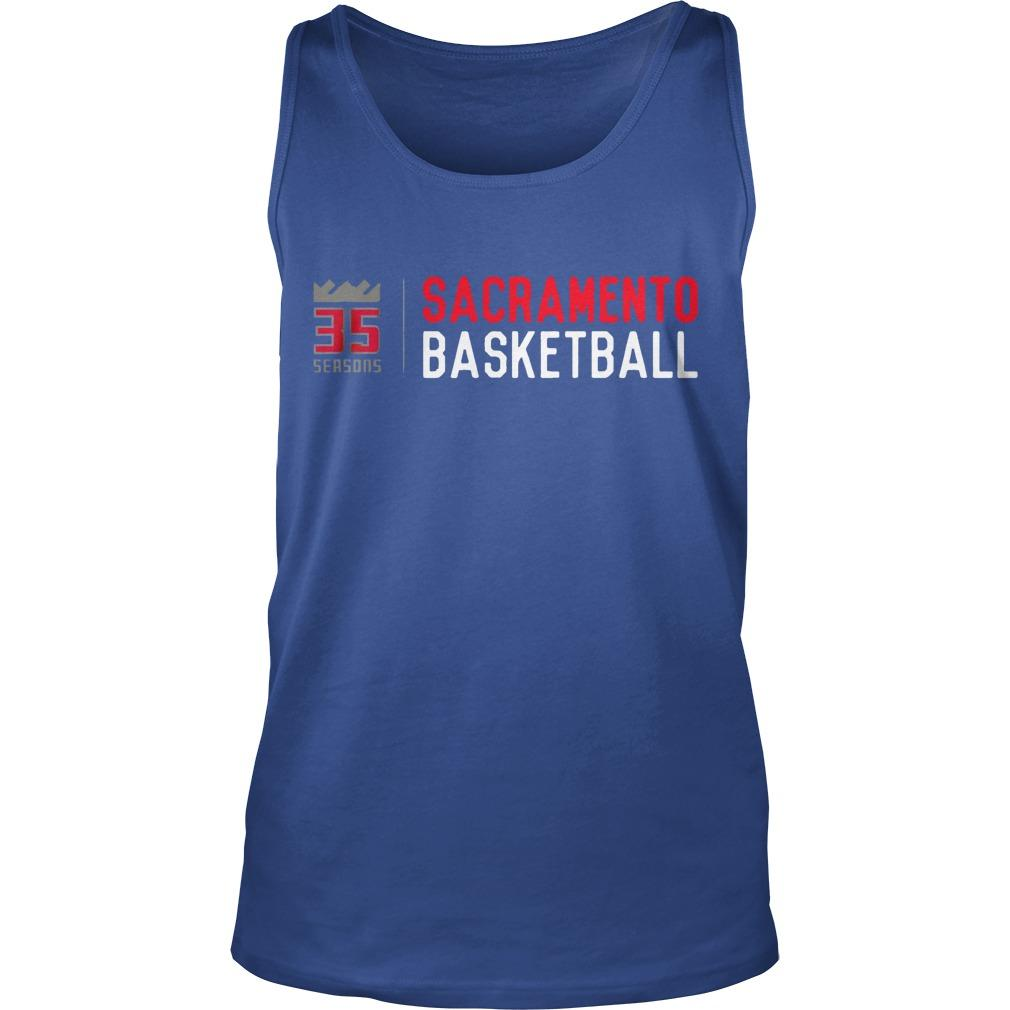 35 Seasons Sacramento Basketball Tank Top