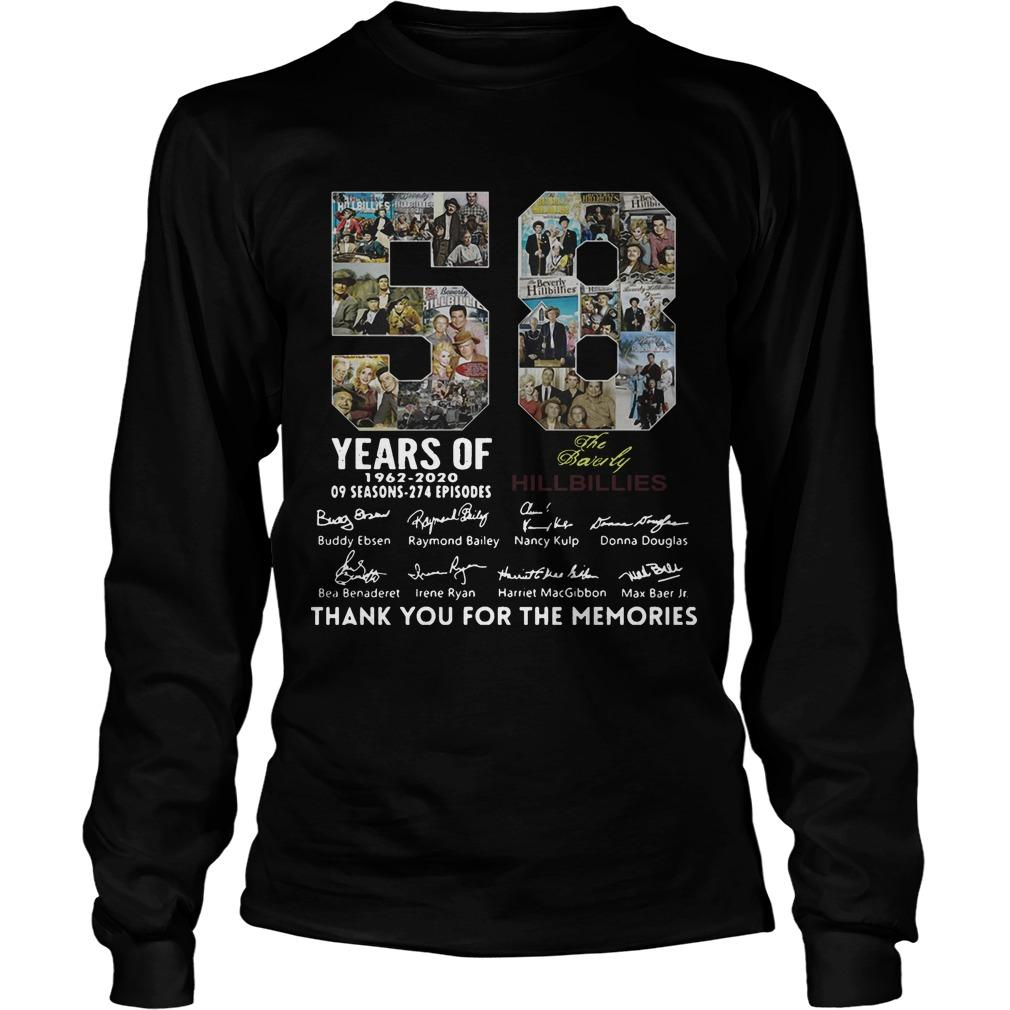 58 Years Of The Beverly Hillbillies 1962 2020 Thank You For The Memories Longsleeve