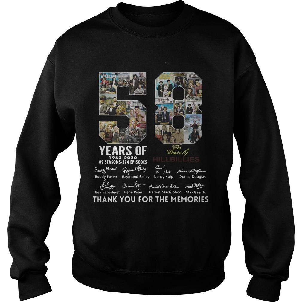 58 Years Of The Beverly Hillbillies 1962 2020 Thank You For The Memories Sweater