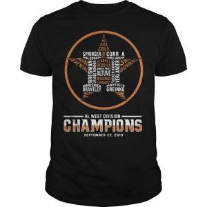 Al West Division Champions September 22 2019 Shirt