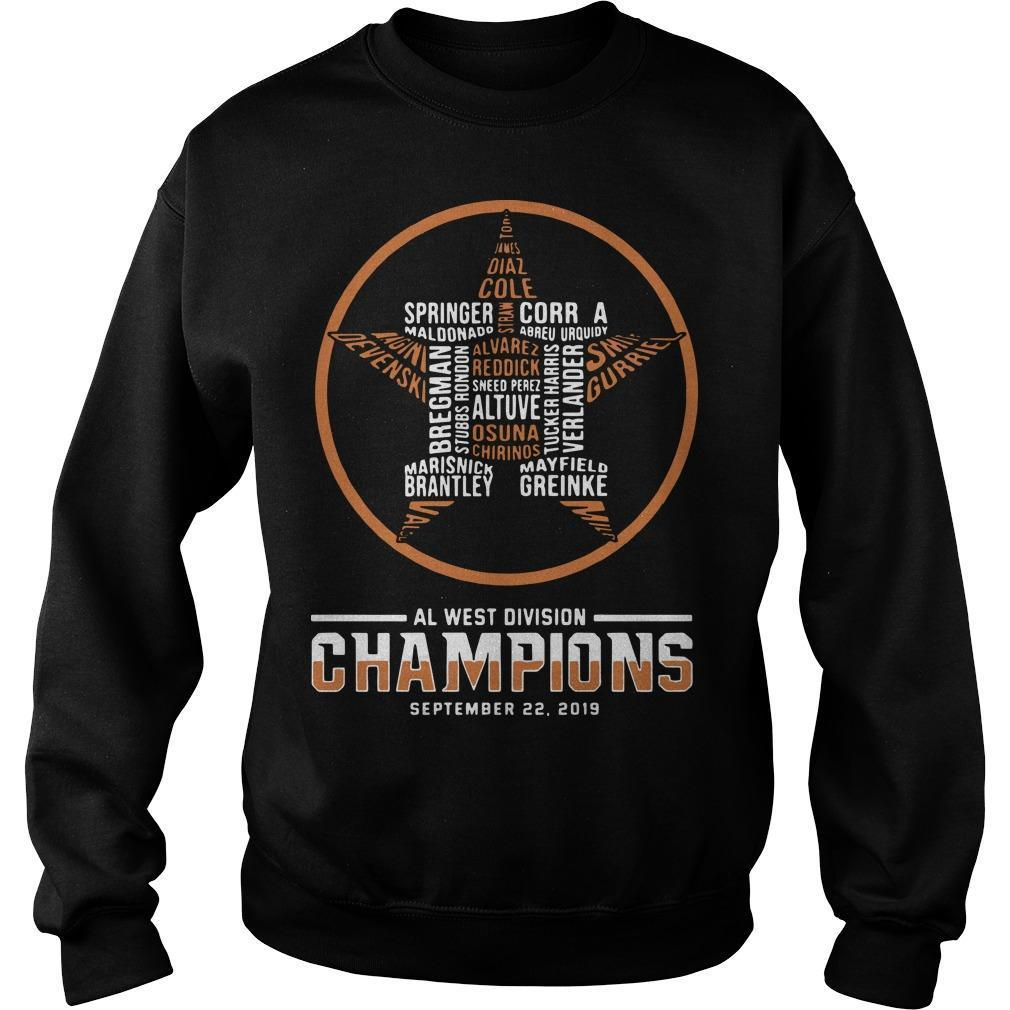 Al West Division Champions September 22 2019 Sweater