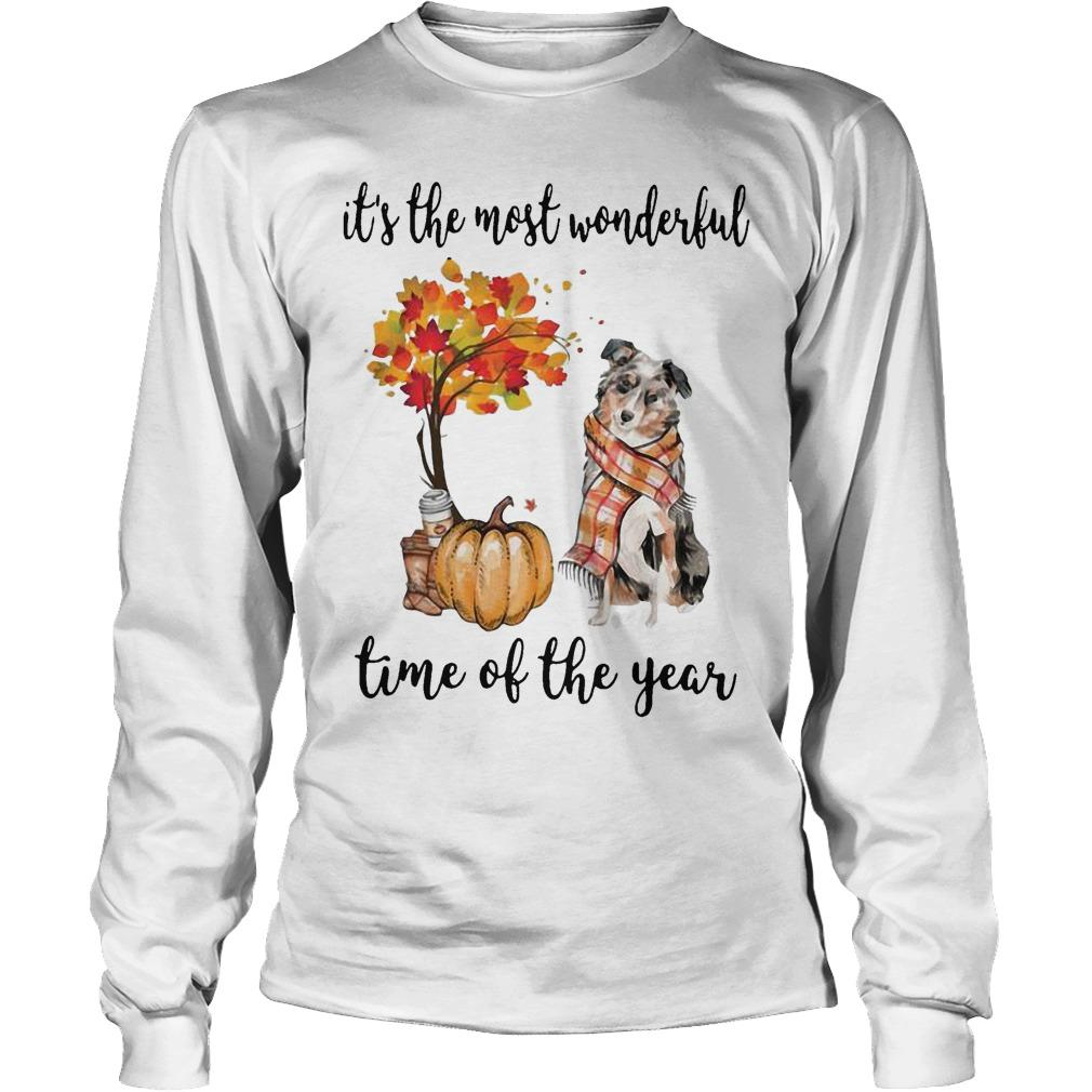Australian Shepherd It's The Most Wonderful Time Of The Year Longsleeve
