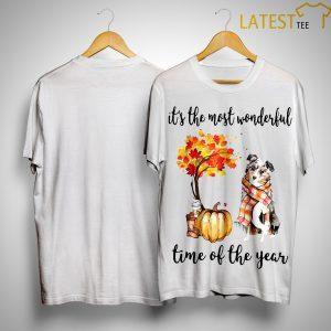 Australian Shepherd It's The Most Wonderful Time Of The Year Shirt