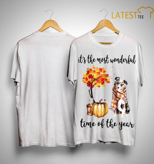 Australian Shepherd It's The Most Wonderful Time Of The Year Shirt