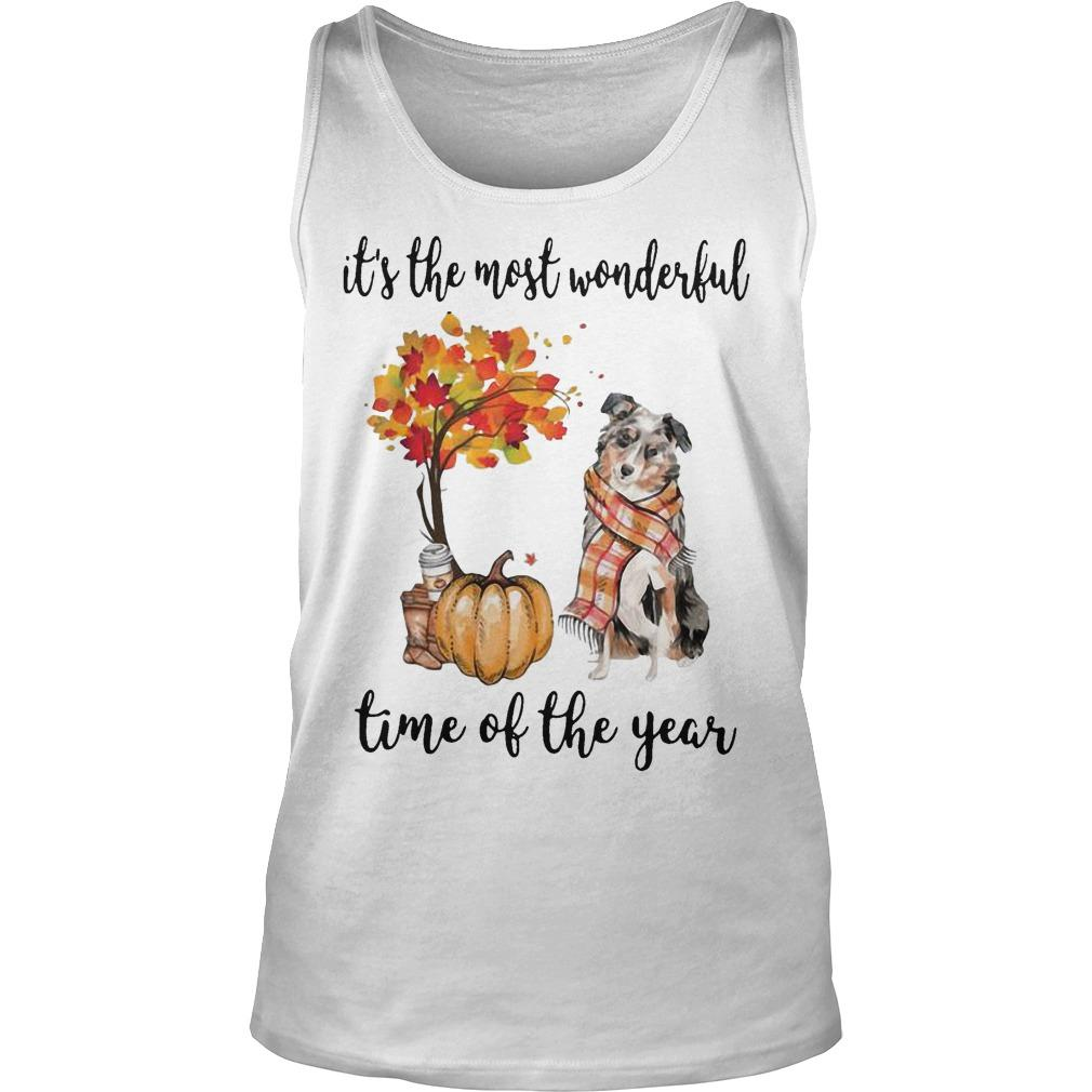 Australian Shepherd It's The Most Wonderful Time Of The Year Tank Top