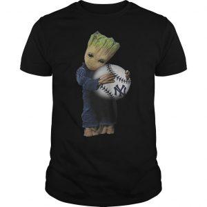 Baby Groot Hugs New York Yankees Shirt
