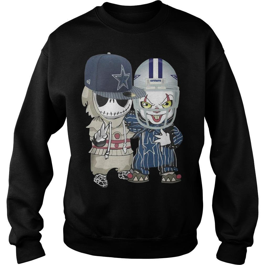 Baby Jack Skellington And Pennywise Dallas Cowboys Sweater