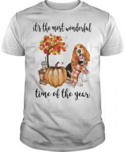Basset Hound It's The Most Wonderful Time Of The Year Shirt