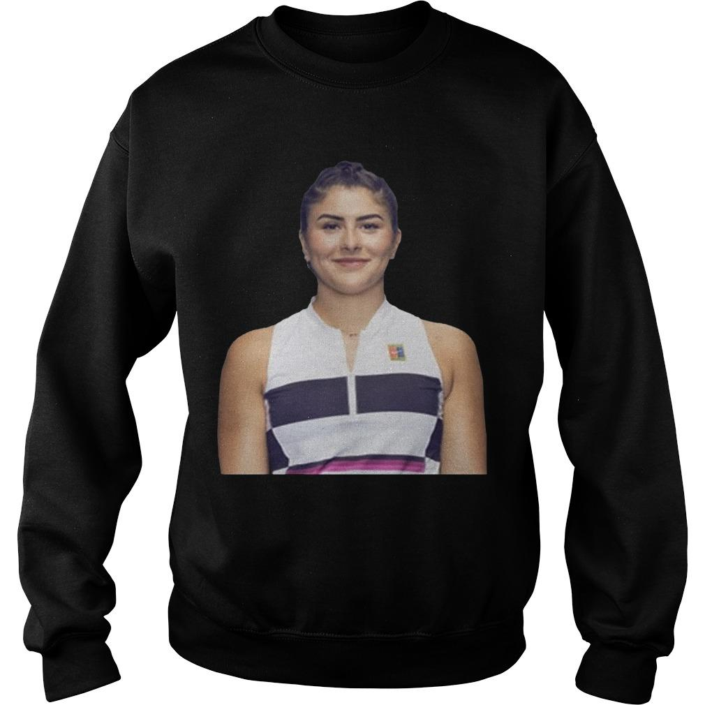 Bianca Andreescu Changes Sweater