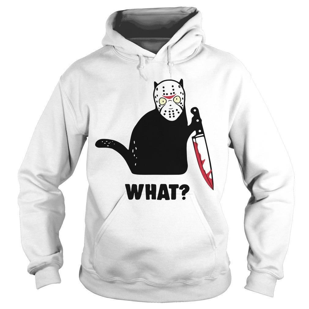 Black Cat Jason Voorhees What Hoodie