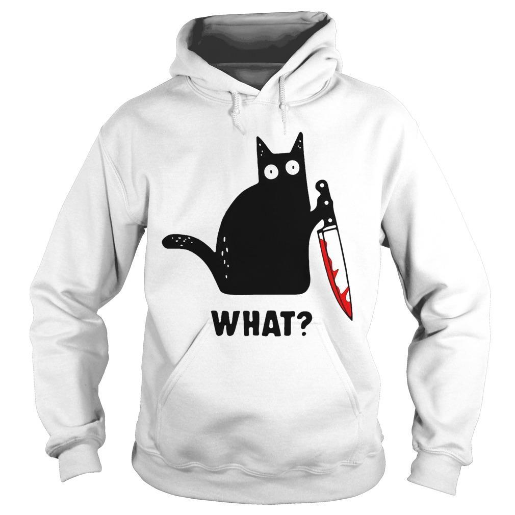 Black Cat Murdered What Hoodie
