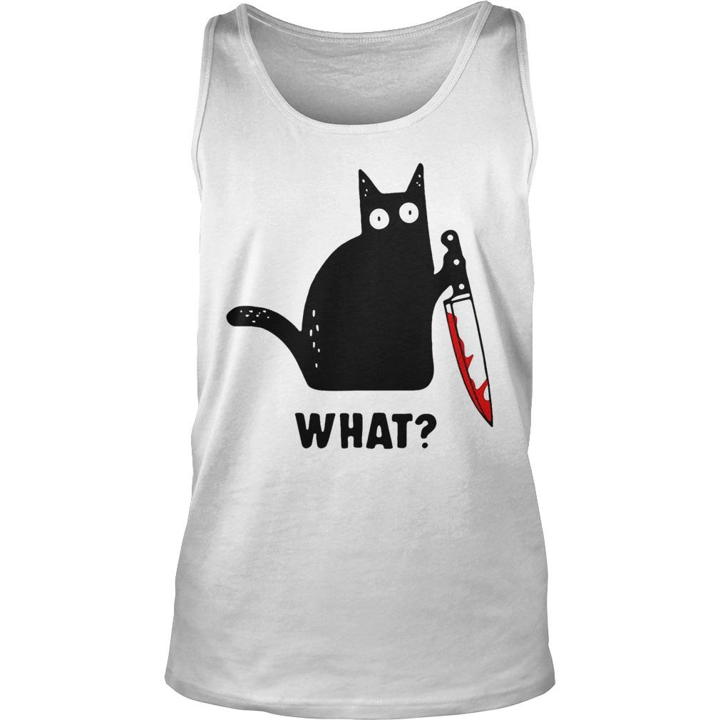 Black Cat Murdered What Tank Top