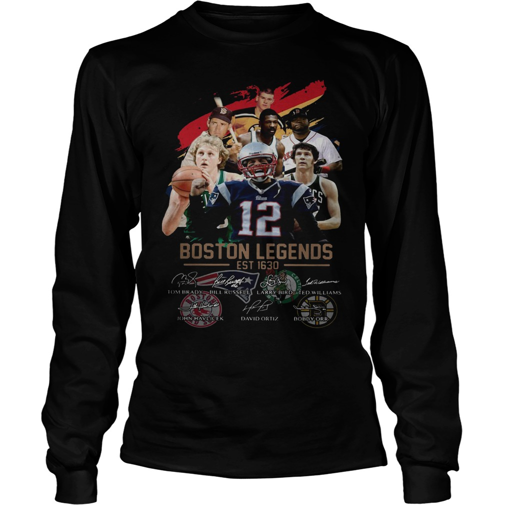 Boston Legends Est 1630 Signatures Longsleeve