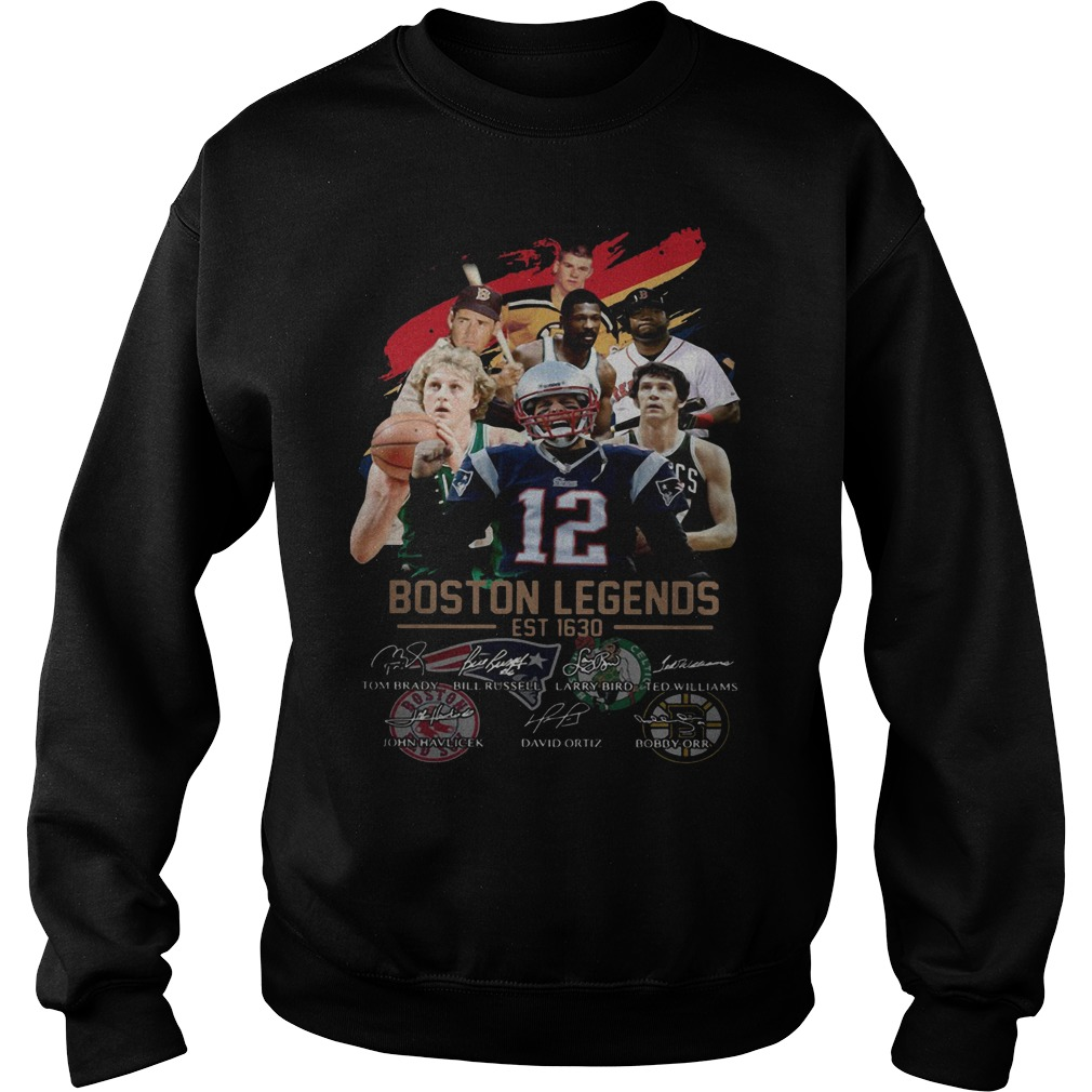 Boston Legends Est 1630 Signatures Sweater