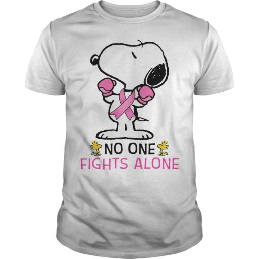Breast Cancer Snoopy No One Fights Alone
