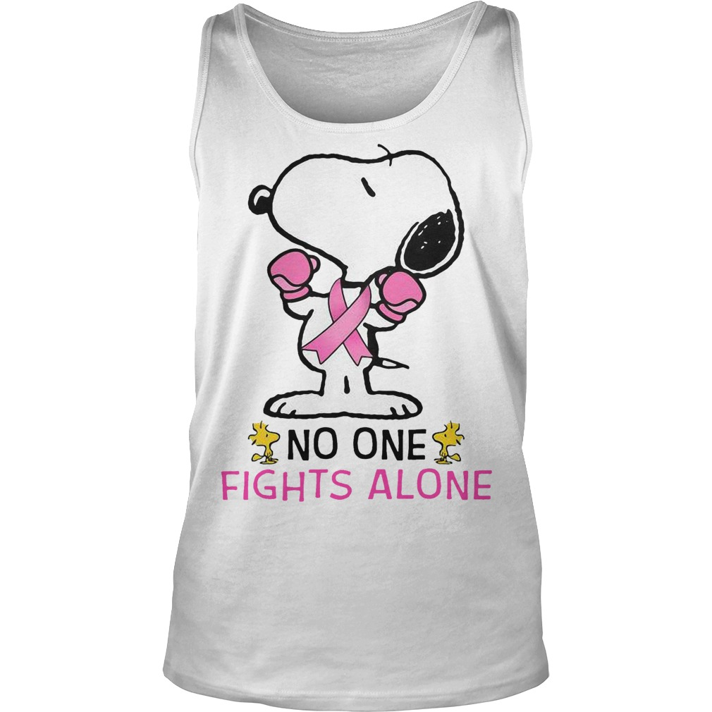 Breast Cancer Snoopy No One Fights Alone Tank Top