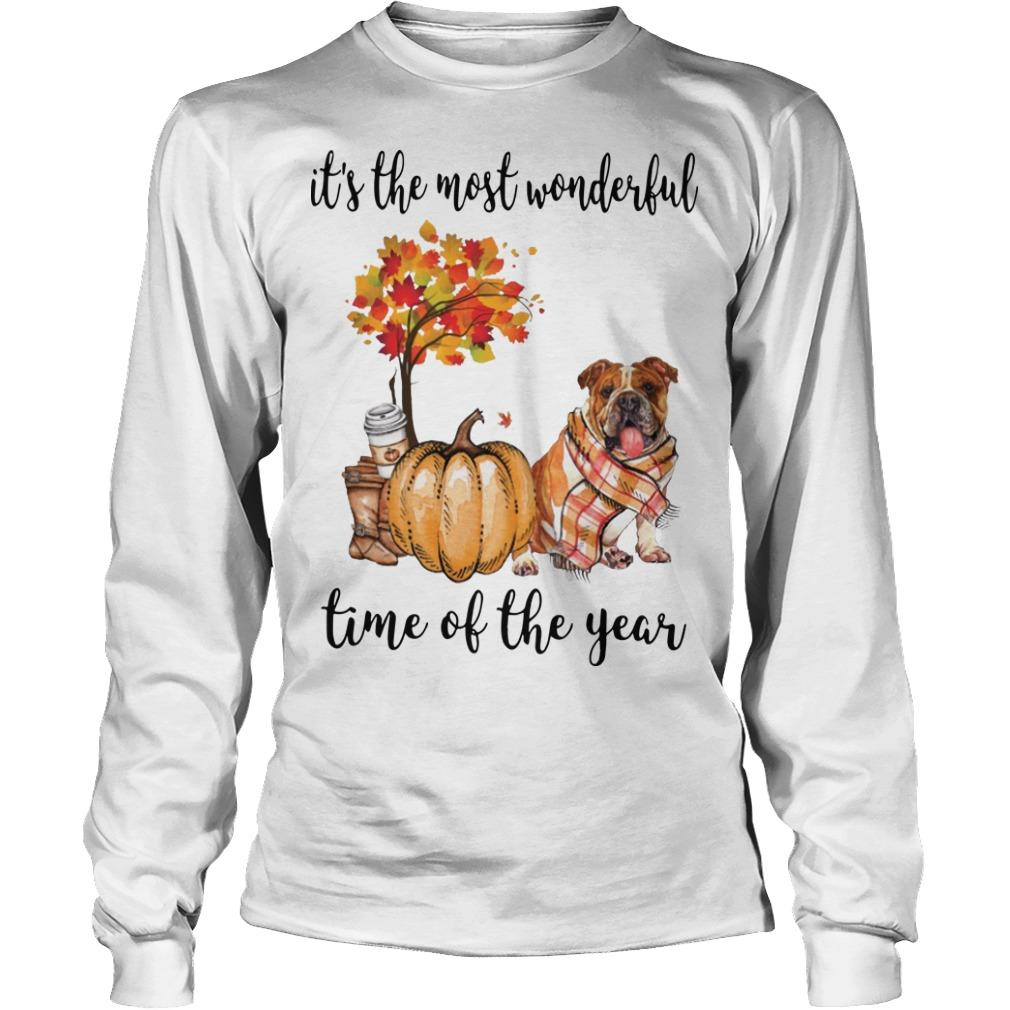 Bulldog It's The Most Wonderful Time Of The Year Longsleeve
