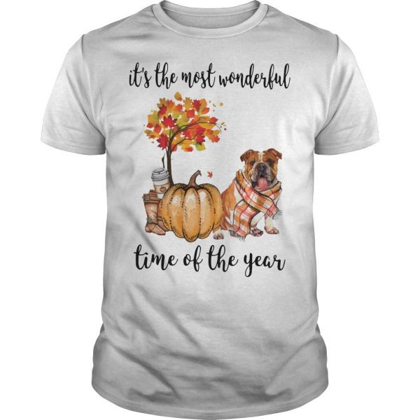 Bulldog It's The Most Wonderful Time Of The Year Shirt