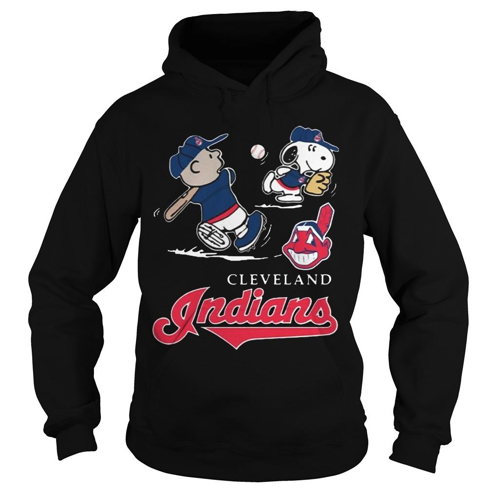 Charlie Brown Snoopy Cleveland Indians T Hoodie