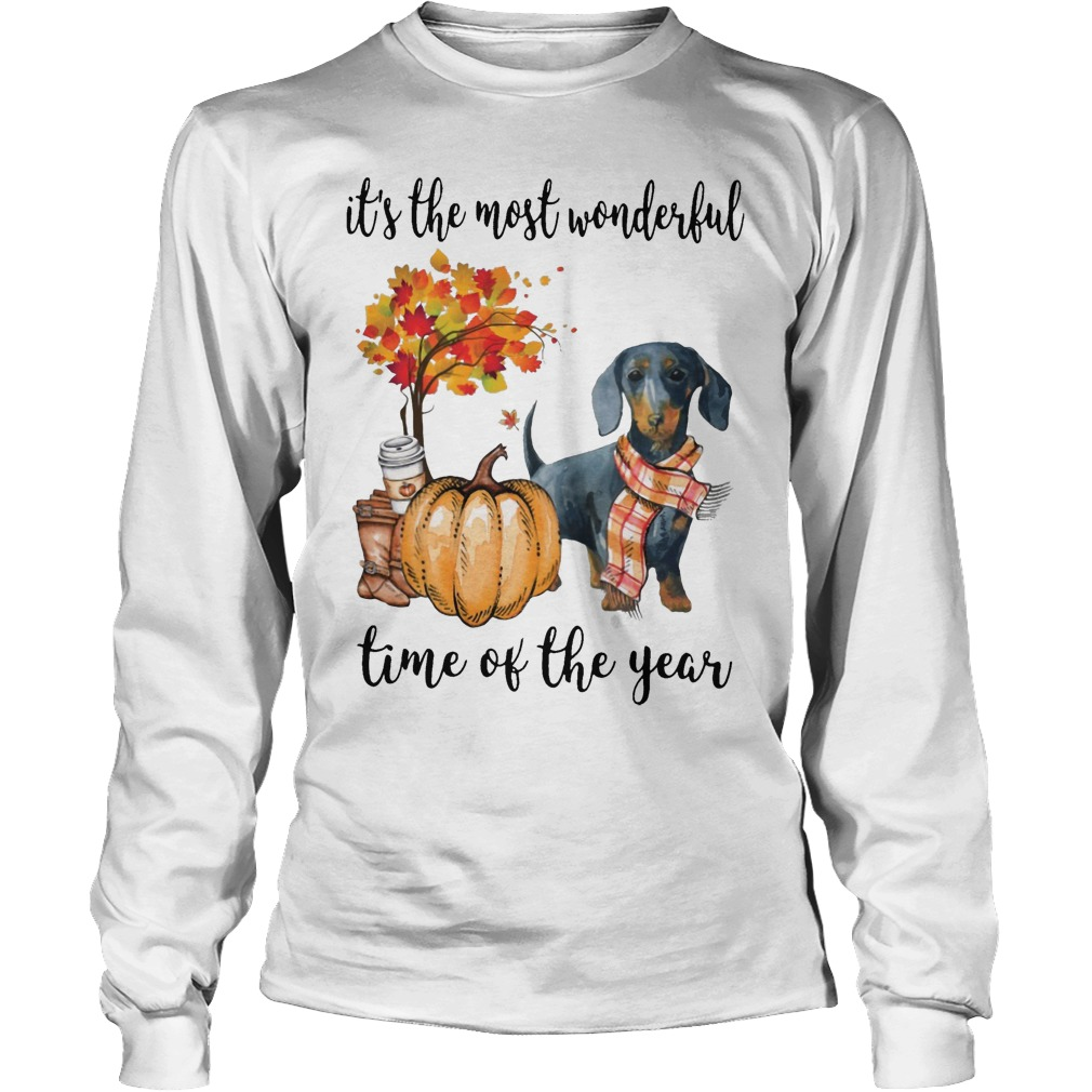Dachshund It's The Most Wonderful Time Of The Year Longsleeve