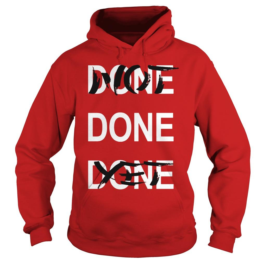 Derrick Rose Done Done Done Not Done Yet Hoodie