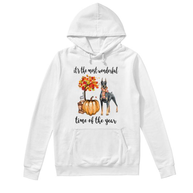Doberman It's The Most Wonderful Time Of The Year Hoodie