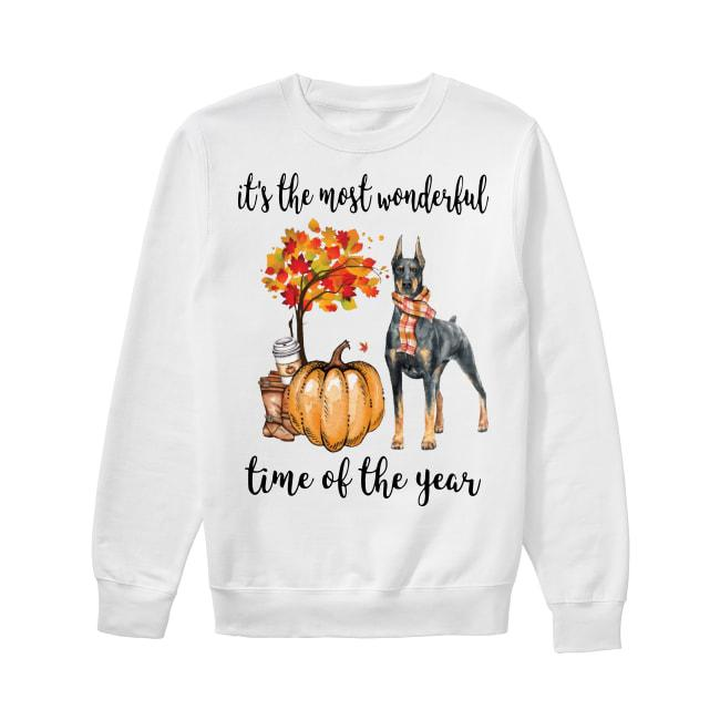 Doberman It's The Most Wonderful Time Of The Year Sweater