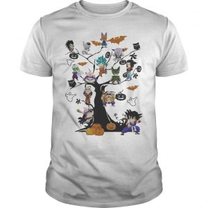 Dragon Ball Characters On The Tree Halloween Shirt