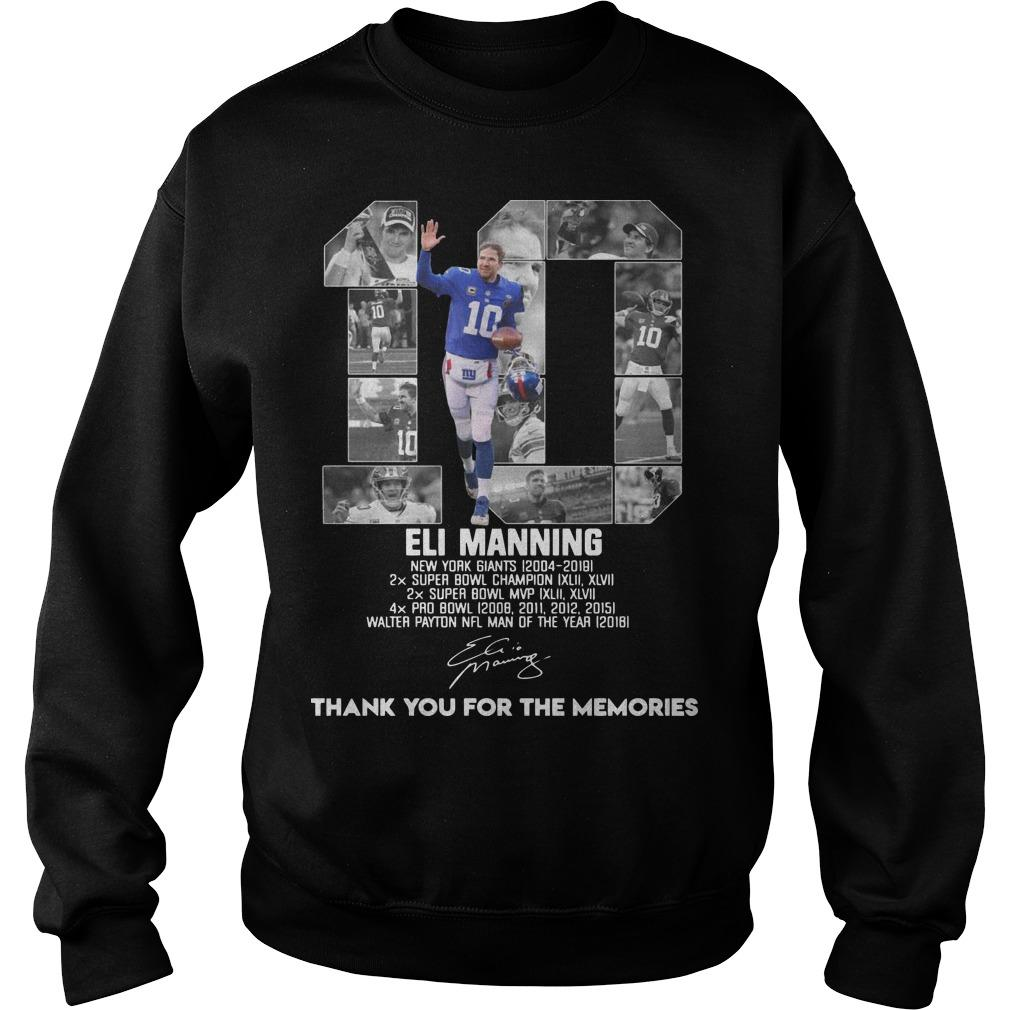 Eli Manning New York Giants 2014 2019 Thank You For The Memories Signature Sweater