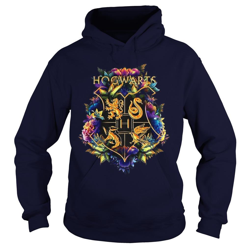 Flower Hogwarts Logo Hoodie