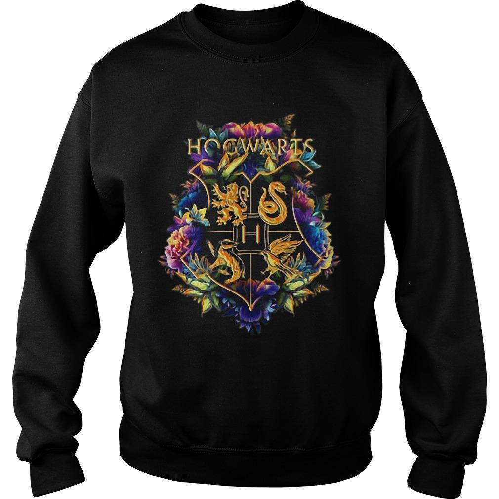Flower Hogwarts Logo Sweater