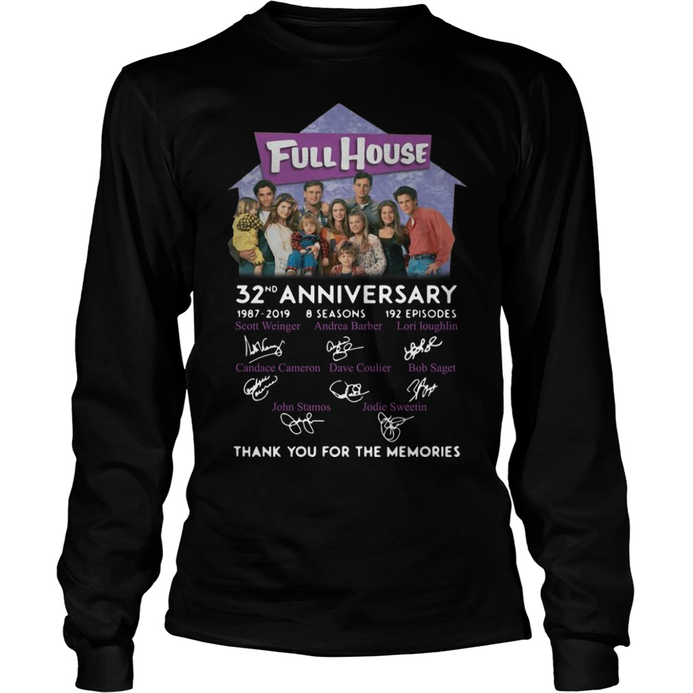 Full House 32th Anniversary Thank You For The Memories Signatures Longsleeve