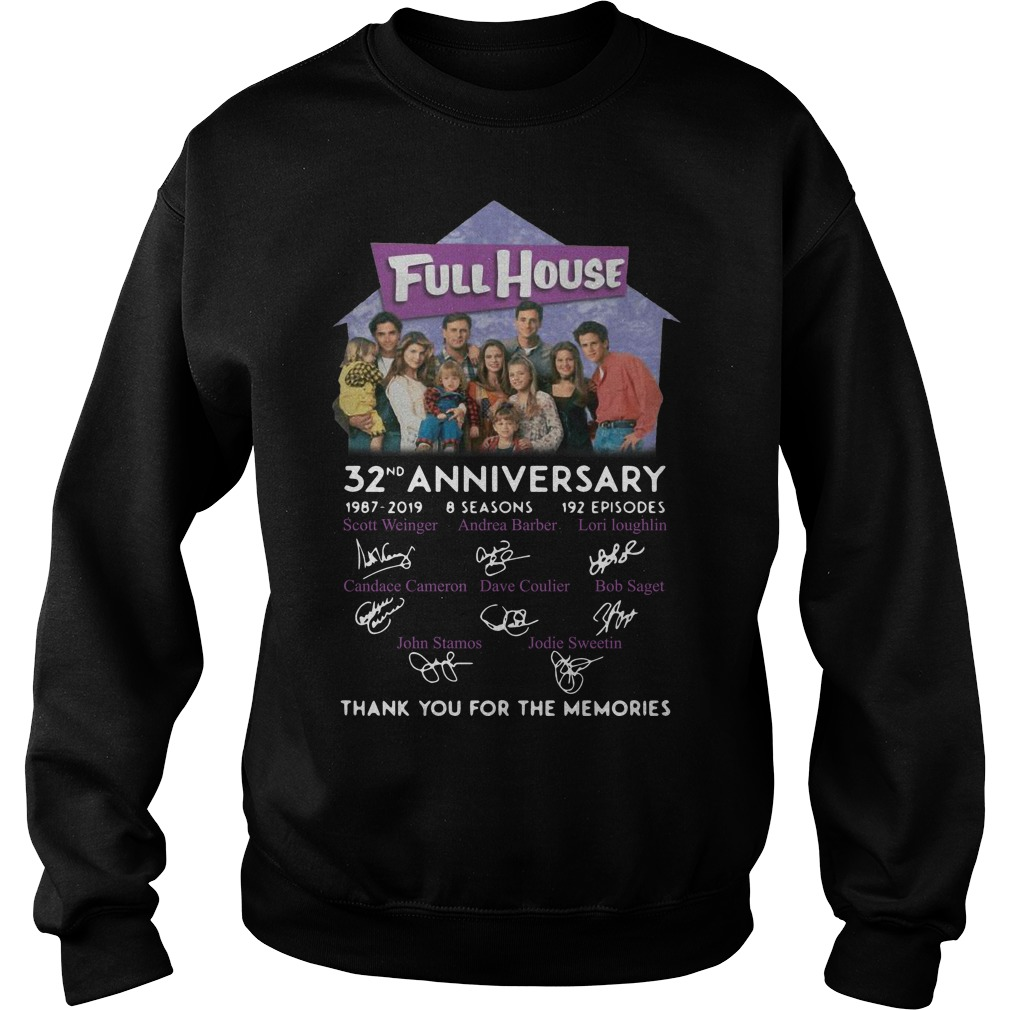 Full House 32th Anniversary Thank You For The Memories Signatures Sweater