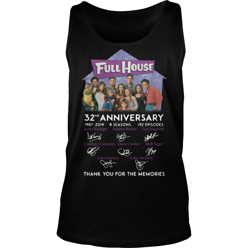Full House 32th Anniversary Thank You For The Memories Signatures Tank Top