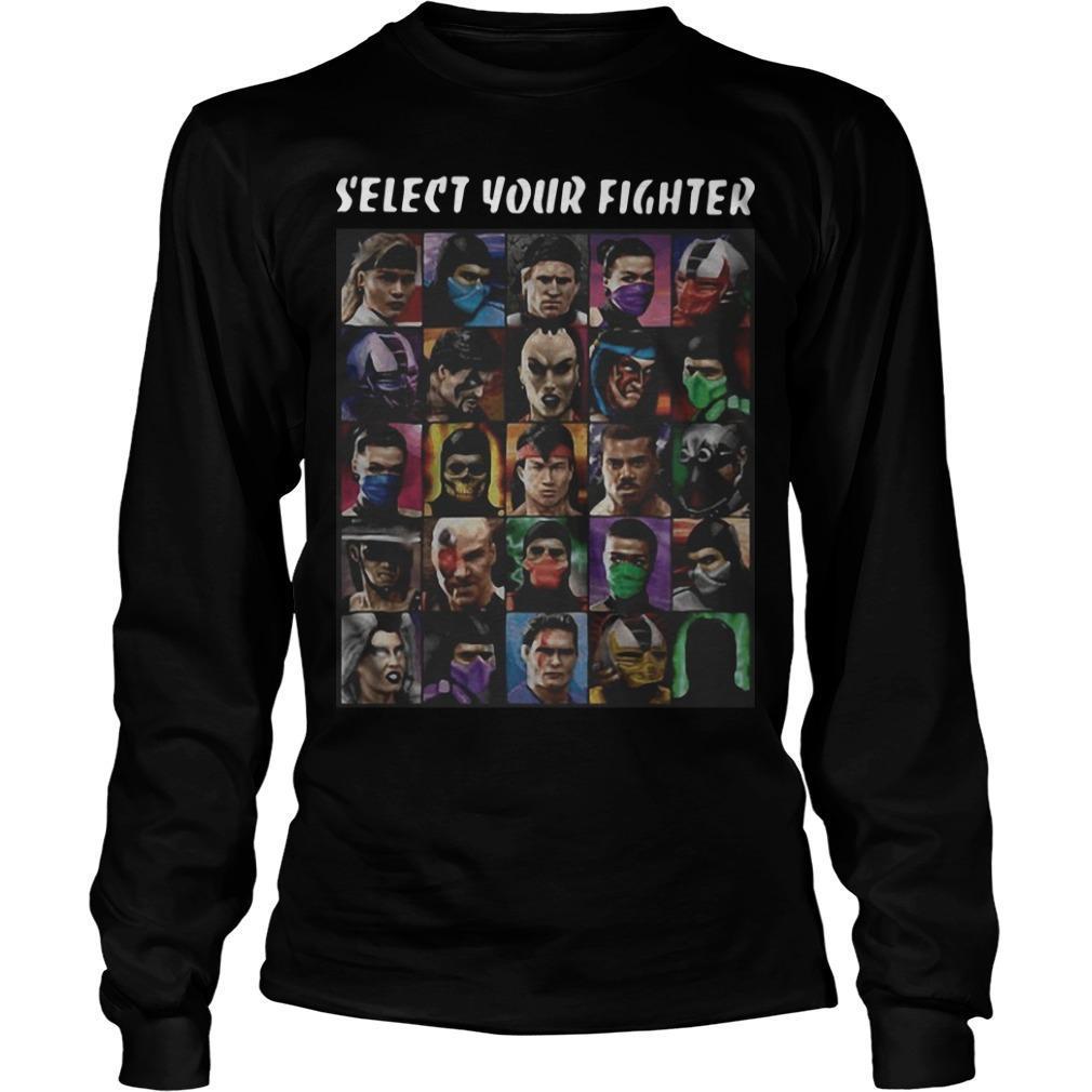 Game Mortal Kombat Select Your Fighter Longsleeve