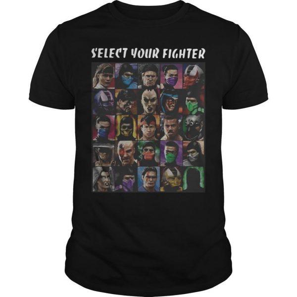 Game Mortal Kombat Select Your Fighter Shirt