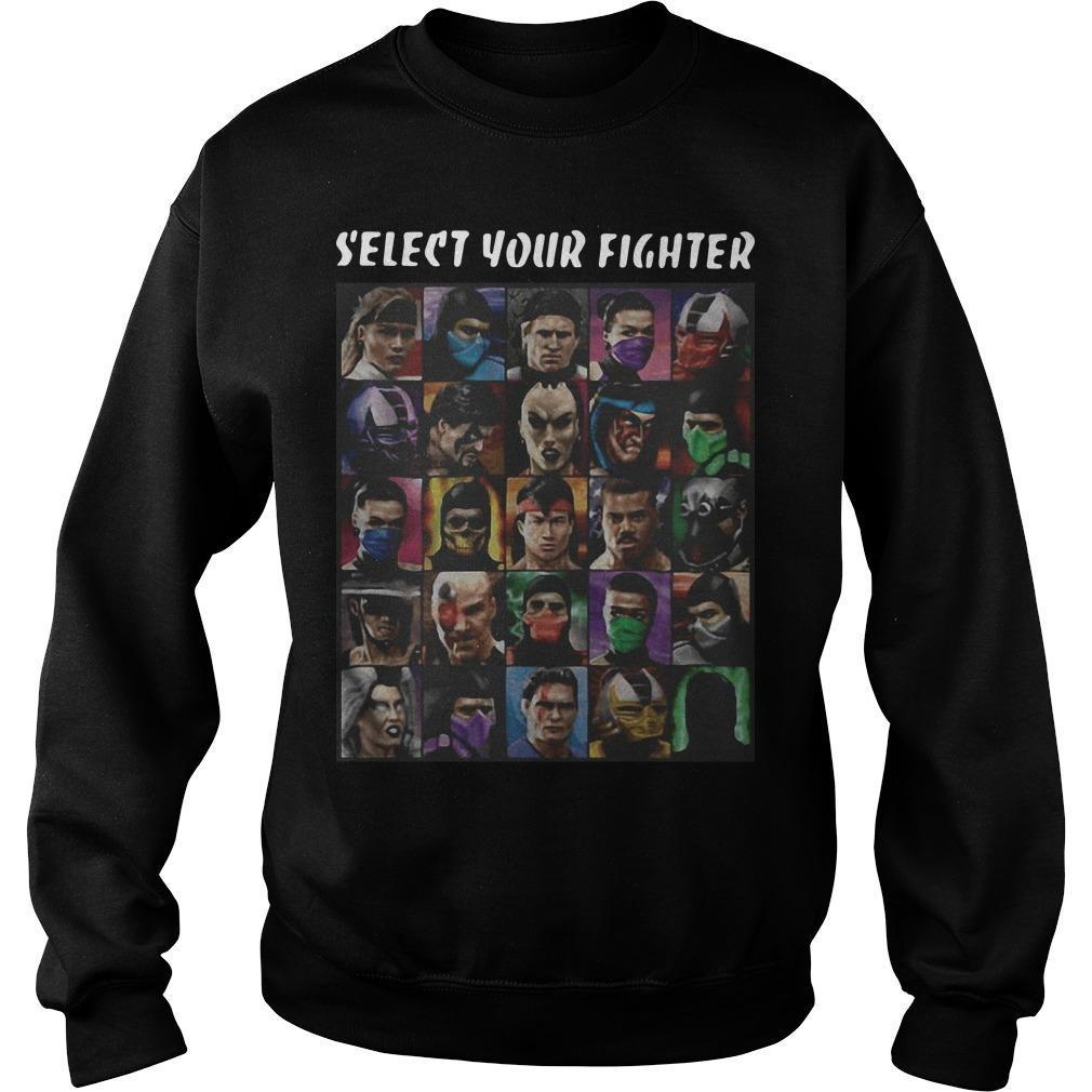 Game Mortal Kombat Select Your Fighter Sweater