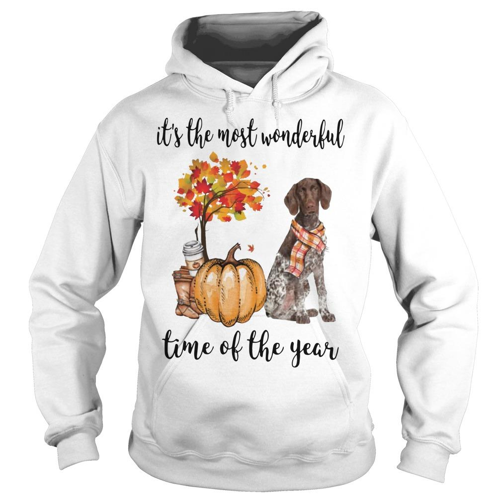 German Shorthaired Pointer It's The Most Wonderful Time Of The Year Hoodie