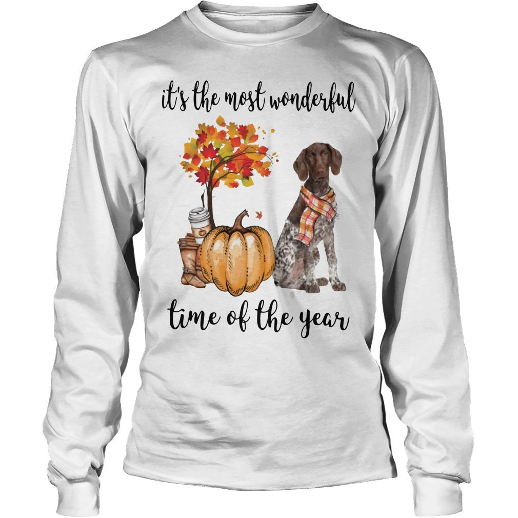 German Shorthaired Pointer It's The Most Wonderful Time Of The Year Longsleeve