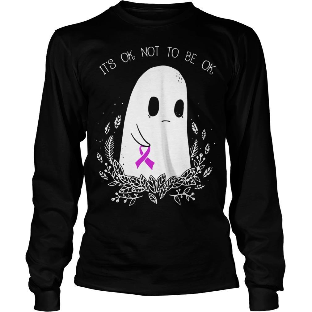 Ghost Breast Cancer Awareness It's Ok Not To Be Ok Longsleeve
