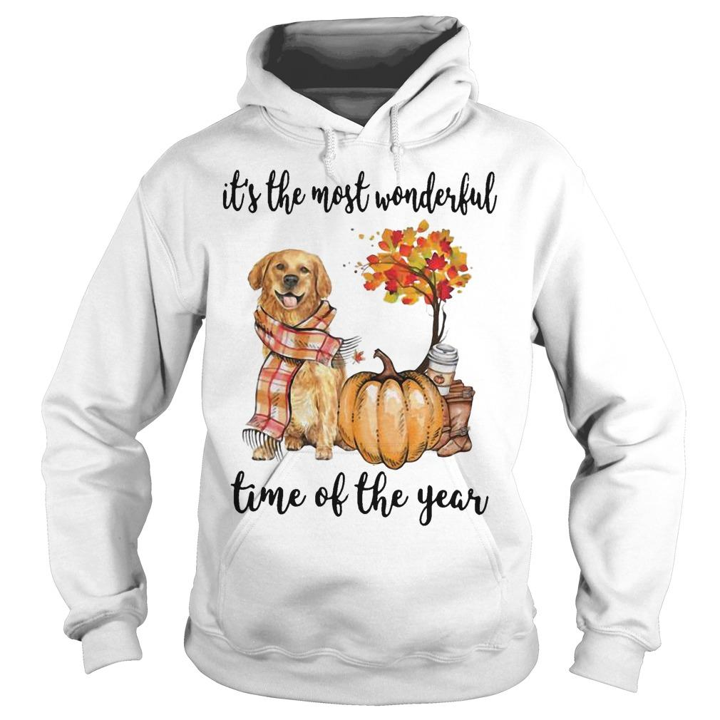Golden Retriever It's The Most Wonderful Time Of The Year Hoodie