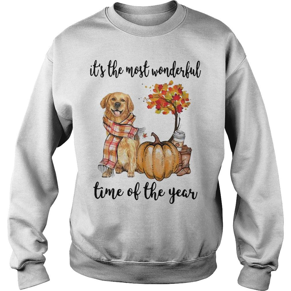 Golden Retriever It's The Most Wonderful Time Of The Year Sweater