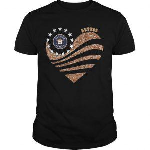 Heart Diamond Houston Astros Shirt