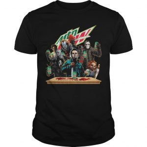 Horror Characters Mountain Dew Shirt