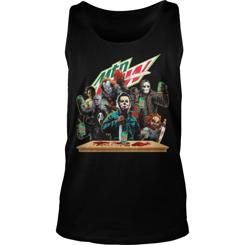 Horror Characters Mountain Dew Tank Top