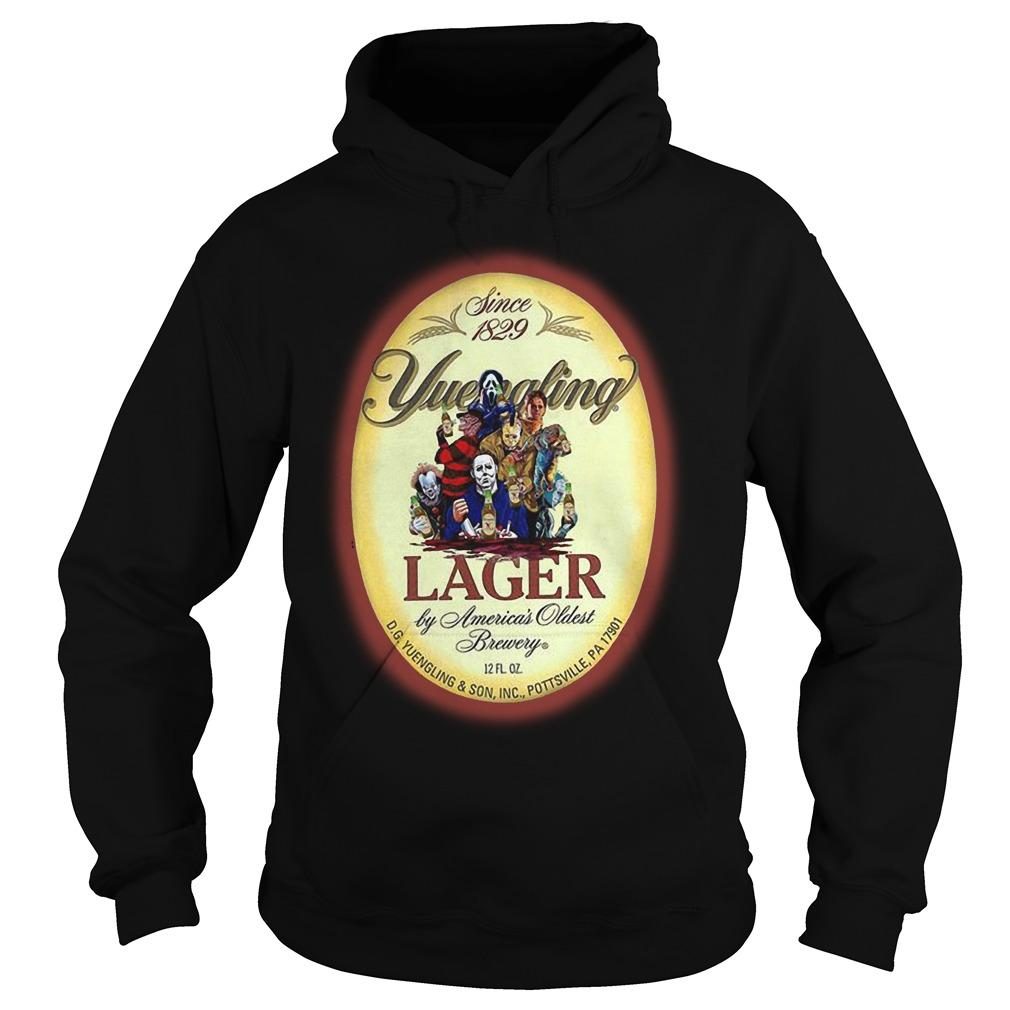 Horror Characters Since 1829 Yuengling Lager By America's Oldest Brewery Hoodie