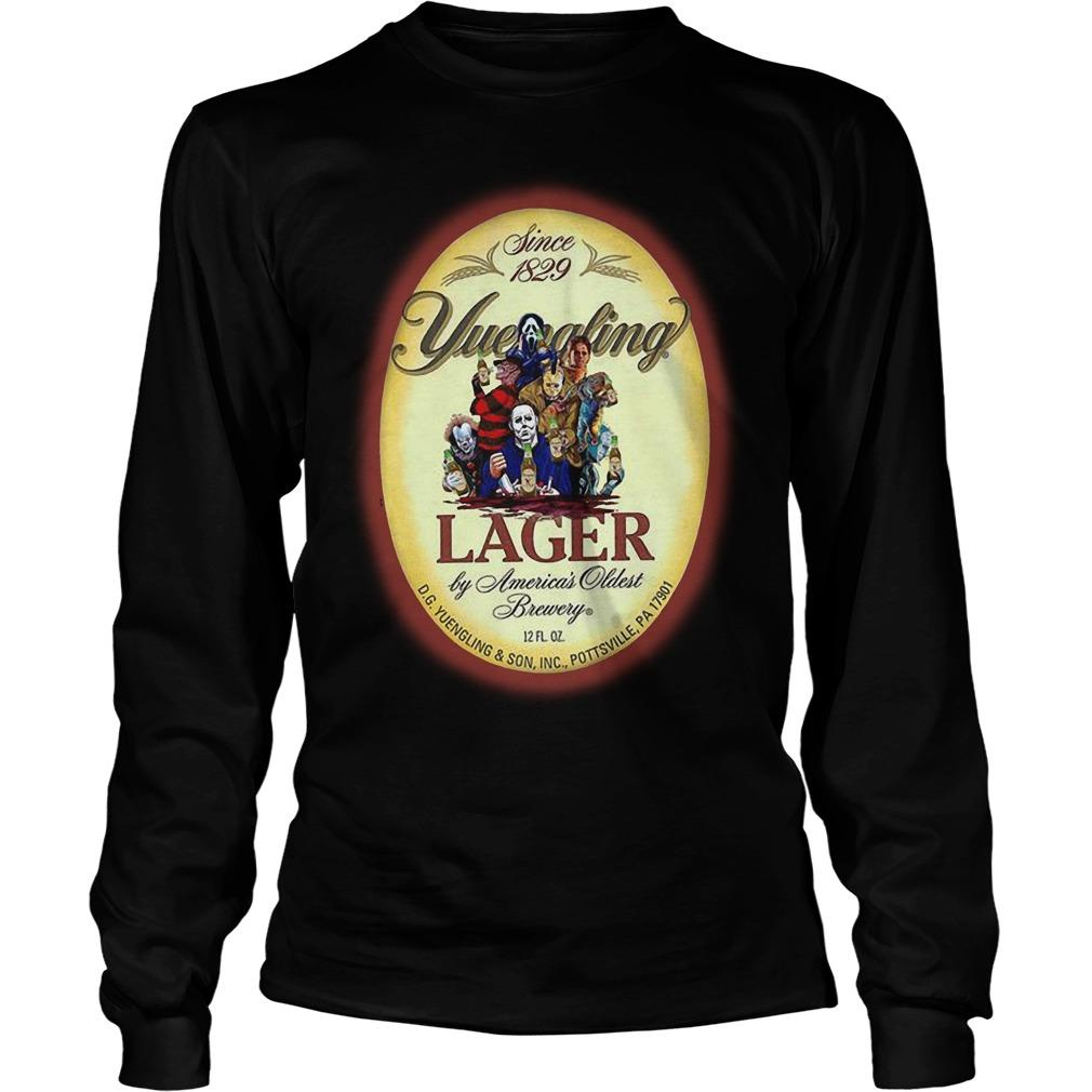 Horror Characters Since 1829 Yuengling Lager By America's Oldest Brewery Longsleeve