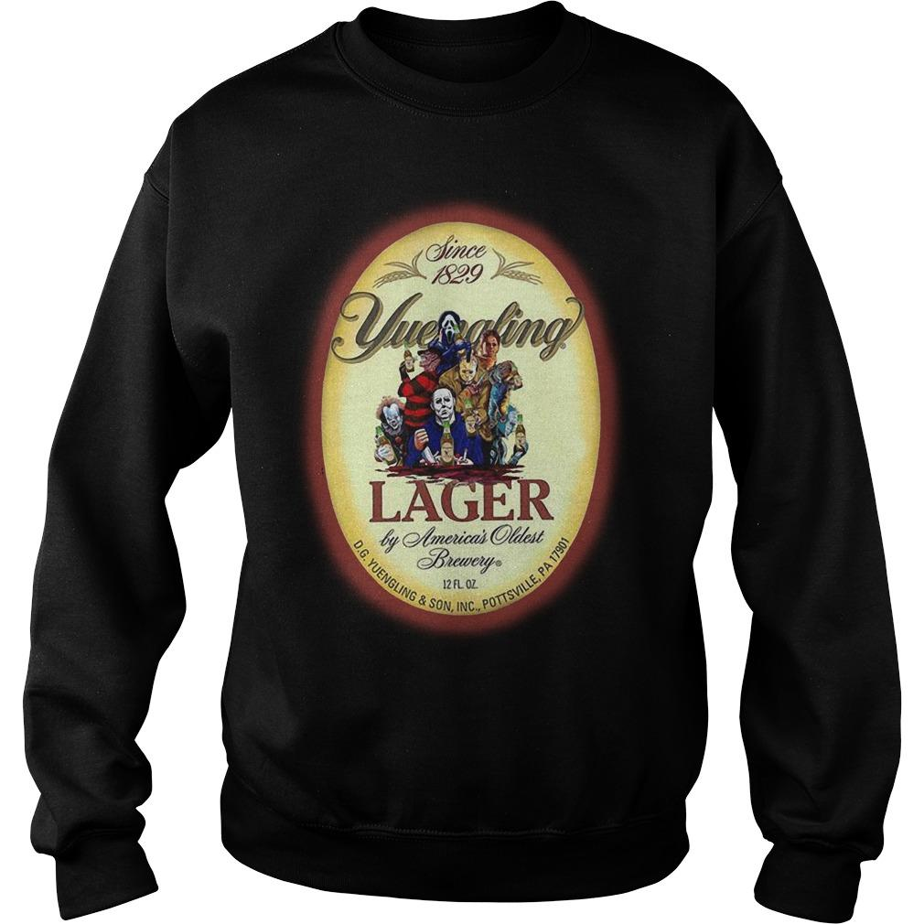 Horror Characters Since 1829 Yuengling Lager By America's Oldest Brewery Sweater