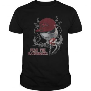 Jack Skellington Fear The Arkansas Razorbacks Shirt