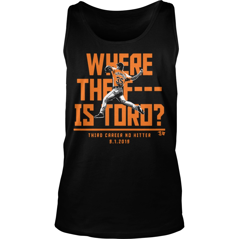 Justin Verlander Where The F Is Toro Tank Top